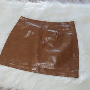 Arden B leather mini skirt